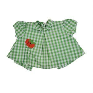 Vintage Montgomery Ward Baby Girl Green Gingham Dr
